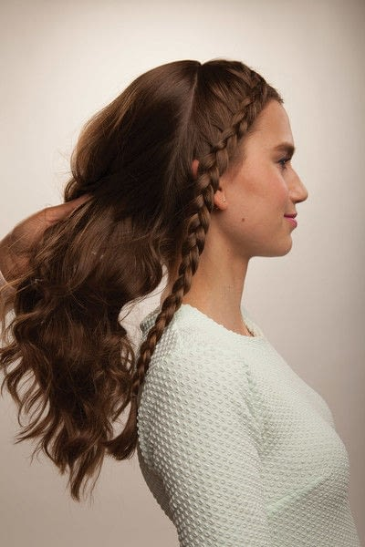 How to style a crown braid. Half Crown Braid - Step 11