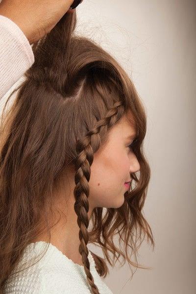 How to style a crown braid. Half Crown Braid - Step 13