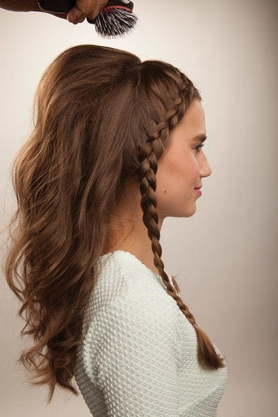 How to style a crown braid. Half Crown Braid - Step 14