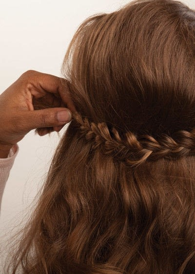 How to style a crown braid. Half Crown Braid - Step 17