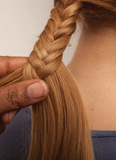 How to style a fishtail braid. The Triple Mermaid Updo  - Step 4