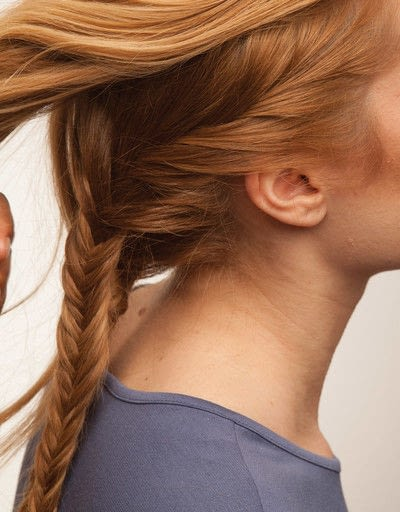 How to style a fishtail braid. The Triple Mermaid Updo  - Step 11