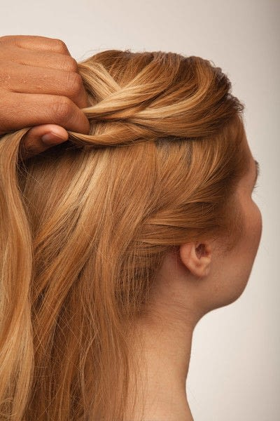 How to style a fishtail braid. The Triple Mermaid Updo  - Step 12