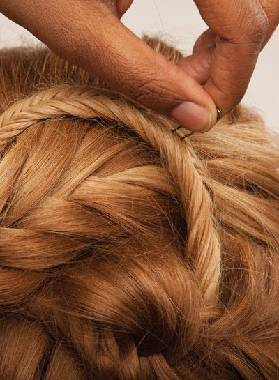 How to style a fishtail braid. The Triple Mermaid Updo  - Step 20