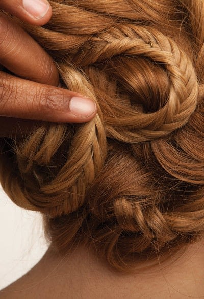 How to style a fishtail braid. The Triple Mermaid Updo  - Step 22