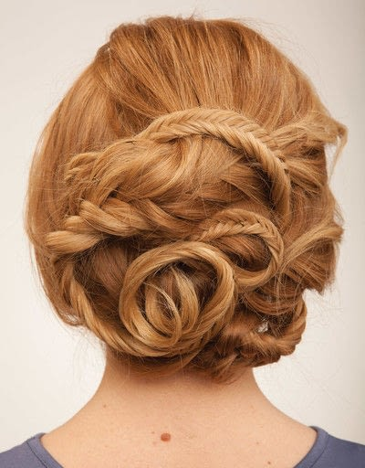 How to style a fishtail braid. The Triple Mermaid Updo  - Step 23