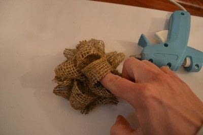 How to make a gift bow. Diy Burlap Gift Bow Tutorial - Step 7