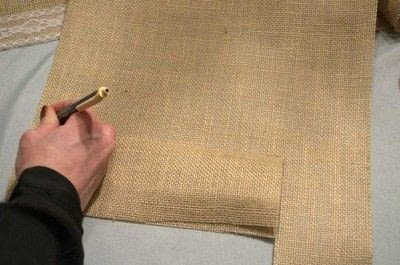 How to embellish a fabric covered box. Diy Burlap Storage Boxes - Step 2