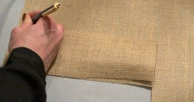 How to embellish a fabric covered box. Diy Burlap Storage Boxes - Step 5