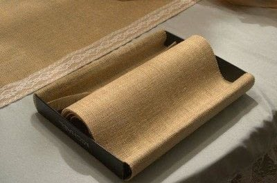 How to embellish a fabric covered box. Diy Burlap Storage Boxes - Step 6