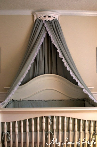How to make a bed canopy. Bed Crown & Canopy Tutorial - Step 10