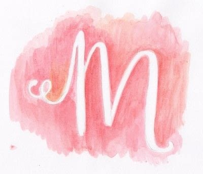 How to paint a piece of watercolor art. Doodle Letter Silhouette - Step 3