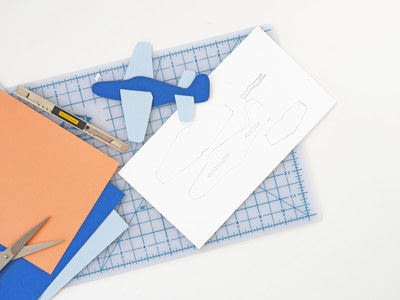 How to make a paper model. Diy Paper Plane + Free Template - Step 1