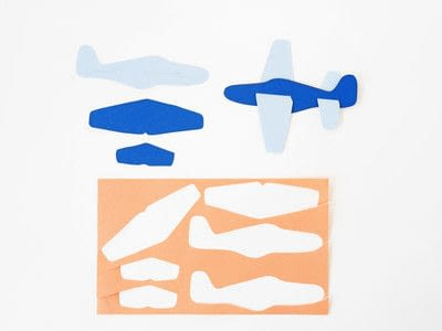How to make a paper model. Diy Paper Plane + Free Template - Step 2