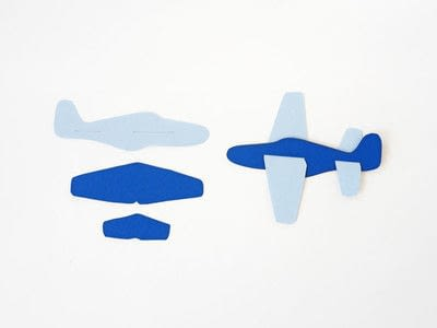 How to make a paper model. Diy Paper Plane + Free Template - Step 3