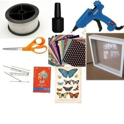 How to make a shadow box. Faux Butterfly Shadowbox Curiosity Cabinet - Step 1