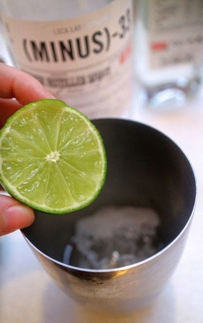 How to mix a martini. Fireball Martini - Step 2