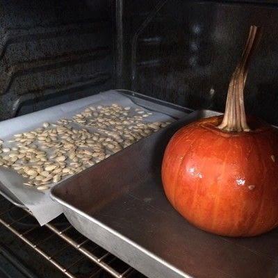 How to cook a casserole / bake. Stuffed Pumpkin - Step 3