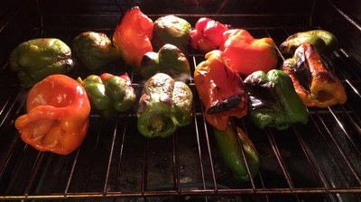 How to cook a vegetable dish. Canning Roasted Bell Peppers - Step 1