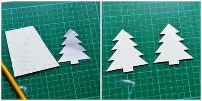How to make a Christmas decoration. Diy 3 D Christmas Tree - Step 1