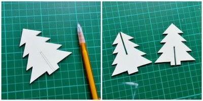 How to make a Christmas decoration. Diy 3 D Christmas Tree - Step 2