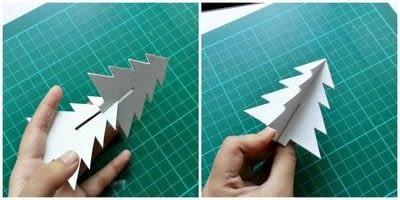 How to make a Christmas decoration. Diy 3 D Christmas Tree - Step 3