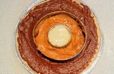 How to bake a pumpkin pie. Candy Corn Pumpkin Pie - Step 6