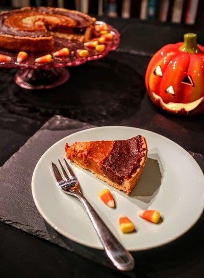 How to bake a pumpkin pie. Candy Corn Pumpkin Pie - Step 8