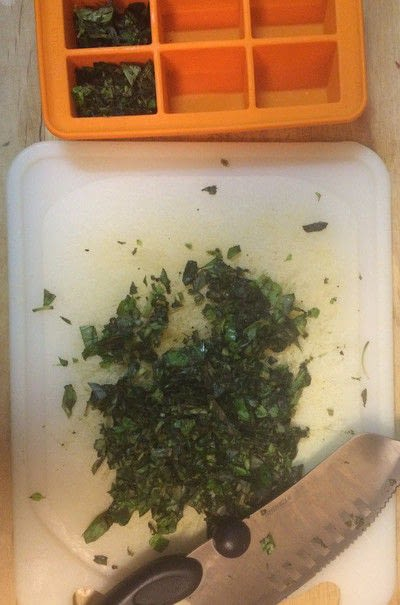 How to make a herb. Herbs Frozen In Olive Oil - Step 2
