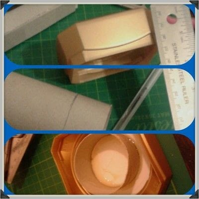 How to make a storage unit. Decoupage Carousel Display for Nail Varnishes - Step 4