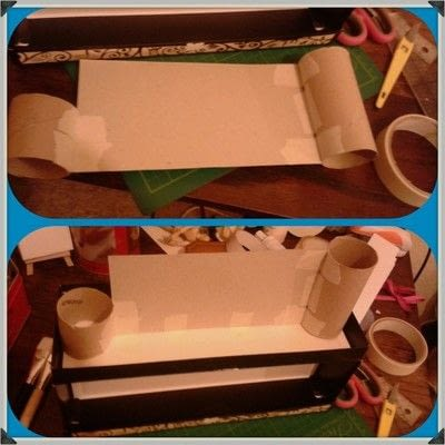 How to make a storage unit. Decoupage Carousel Display for Nail Varnishes - Step 5