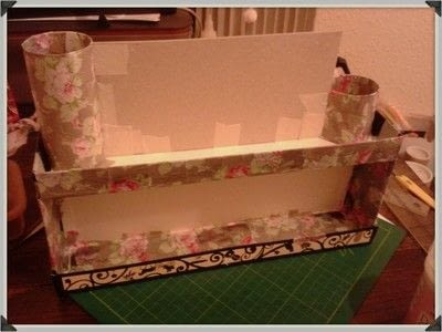 How to make a storage unit. Decoupage Carousel Display for Nail Varnishes - Step 8