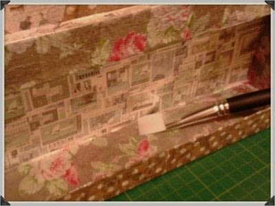 How to make a storage unit. Decoupage Carousel Display for Nail Varnishes - Step 13