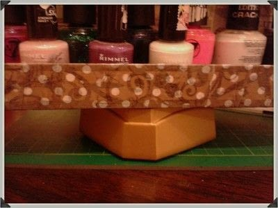 How to make a storage unit. Decoupage Carousel Display for Nail Varnishes - Step 14