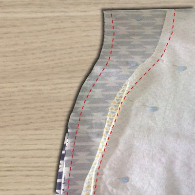 How to sew baby trousers. Reversible Harem Pants - Step 4