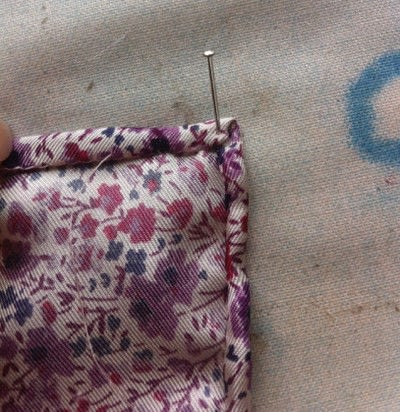 How to make a silk scarf. The Versatile Silk Neckerchief Scarf Tutorial - Step 3