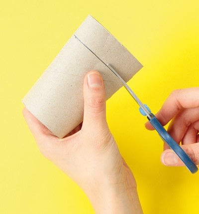 How to make a paper roll model. Ellie The Elephant - Step 3