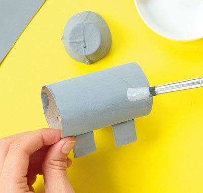 How to make a paper roll model. Ellie The Elephant - Step 7