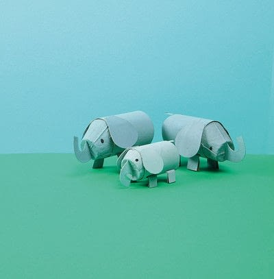 How to make a paper roll model. Ellie The Elephant - Step 11