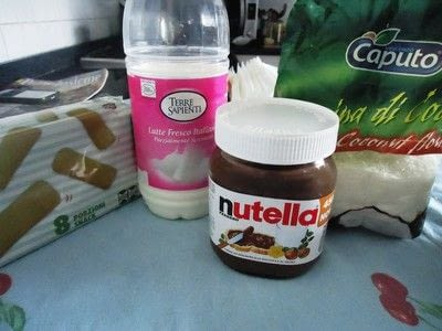 How to bake biscotti. Nutella & Coconut Pavesini - Step 1