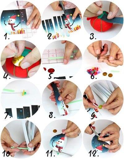 How to make an ornament. Christmas Balls! - Step 3