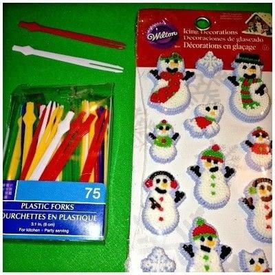 How to make a cake topper. Christmas Cupcake Topper - Step 1