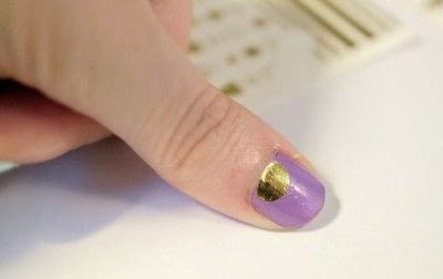 How to paint a geometric nail manicure. Geo Aztec Nails - Step 4