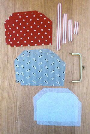 How to make a snap purse. Snap Frame Purse Tutorial  - Step 1
