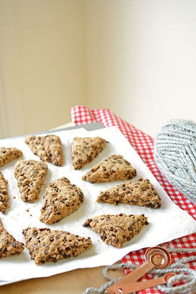 How to bake a biscuit / scone. Diy Jarred Gift  Chocolate Cherry Oat Scones - Step 13