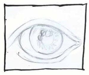 How to draw an eye drawing. How To Draw Eyes - Step 1