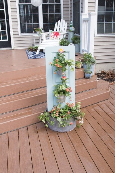 How to make a vase, pot or planter.  Three Tiered Outdoor Planter - Step 9