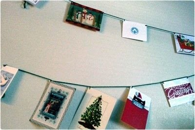 How to make a garland. Holiday Greeting Card Banners - Step 2