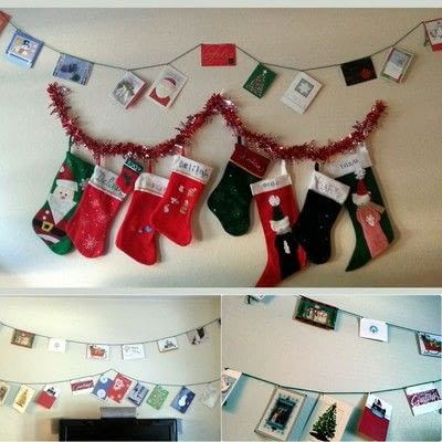 How to make a garland. Holiday Greeting Card Banners - Step 5