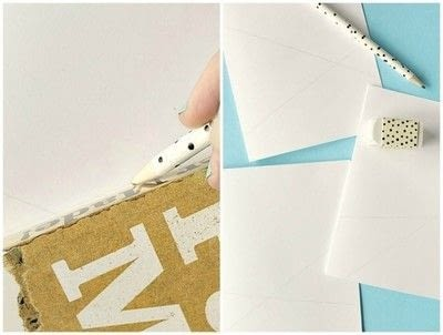 How to make a stitched card. DIY Yarn Embellished Cards - Step 2